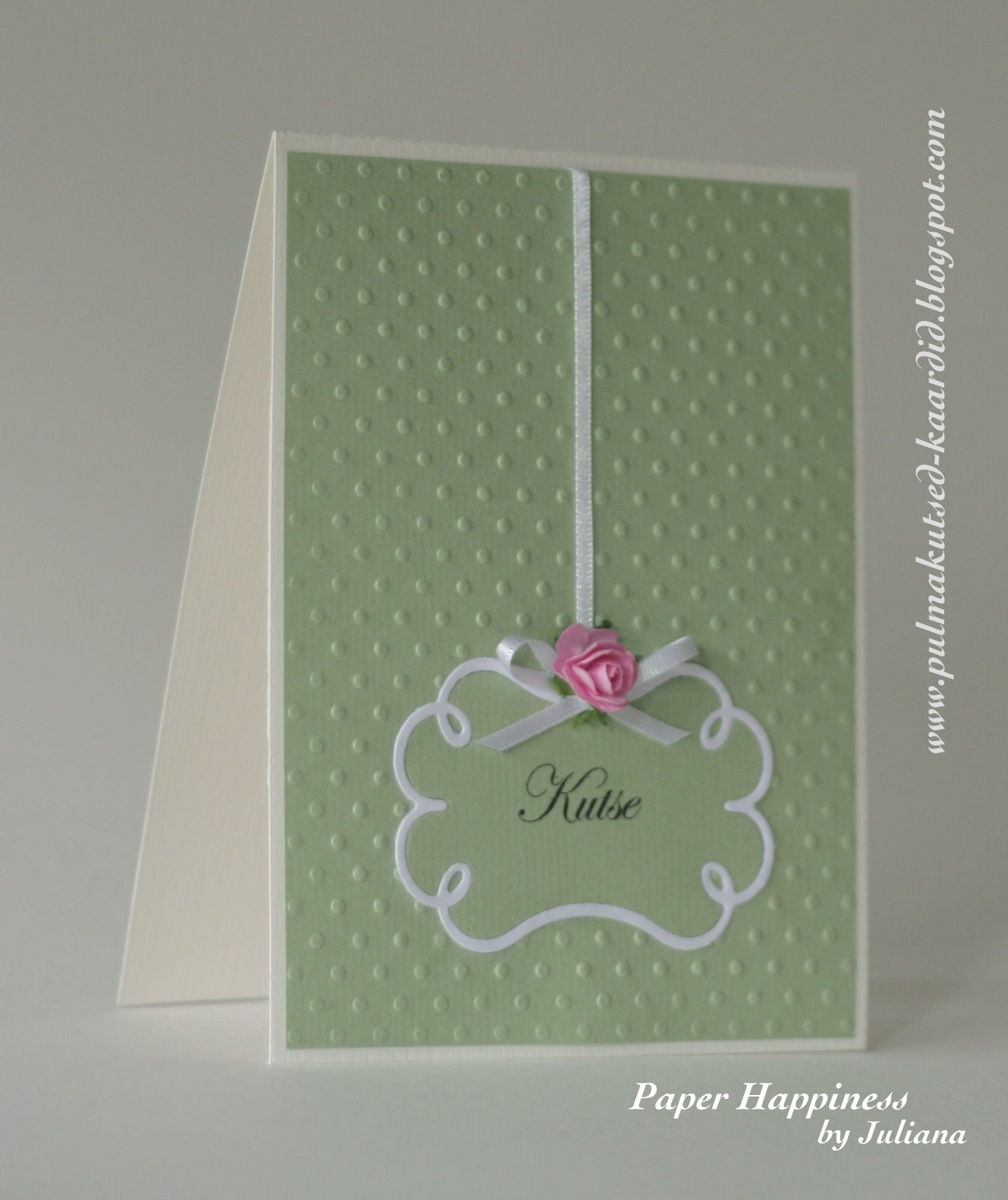 Pale Green Wedding Invitation