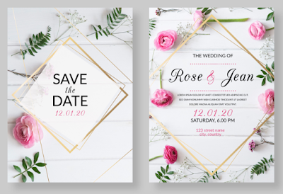 Membuat Undangan Pernikahan 3D Effect Pink Flowers  | Kaina Studios