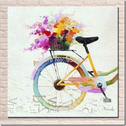 imágenes de bicicletas con flores (17)