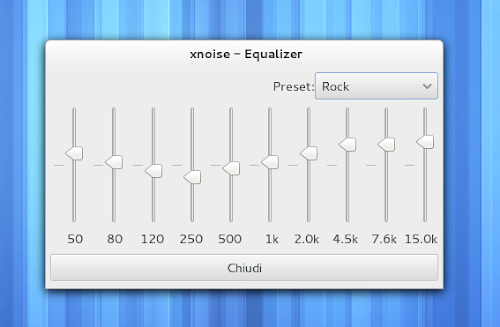 Xnoise 0.2.10 - equalizzatore