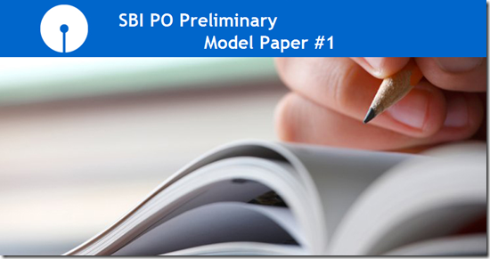 SBI PO 2017 Model Question paper 1 Practice set