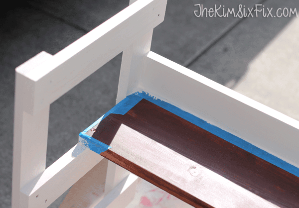 Painting step stool dual colors