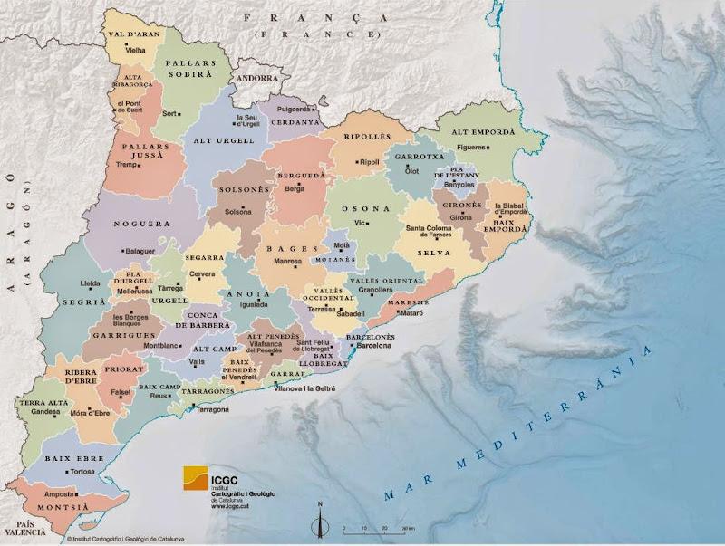Resultat d'imatges de catalunya mapa comarca moianès