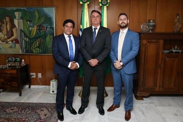 Pastor Gilmar Santos encontra-se com o presidente Jair Bolsonaro