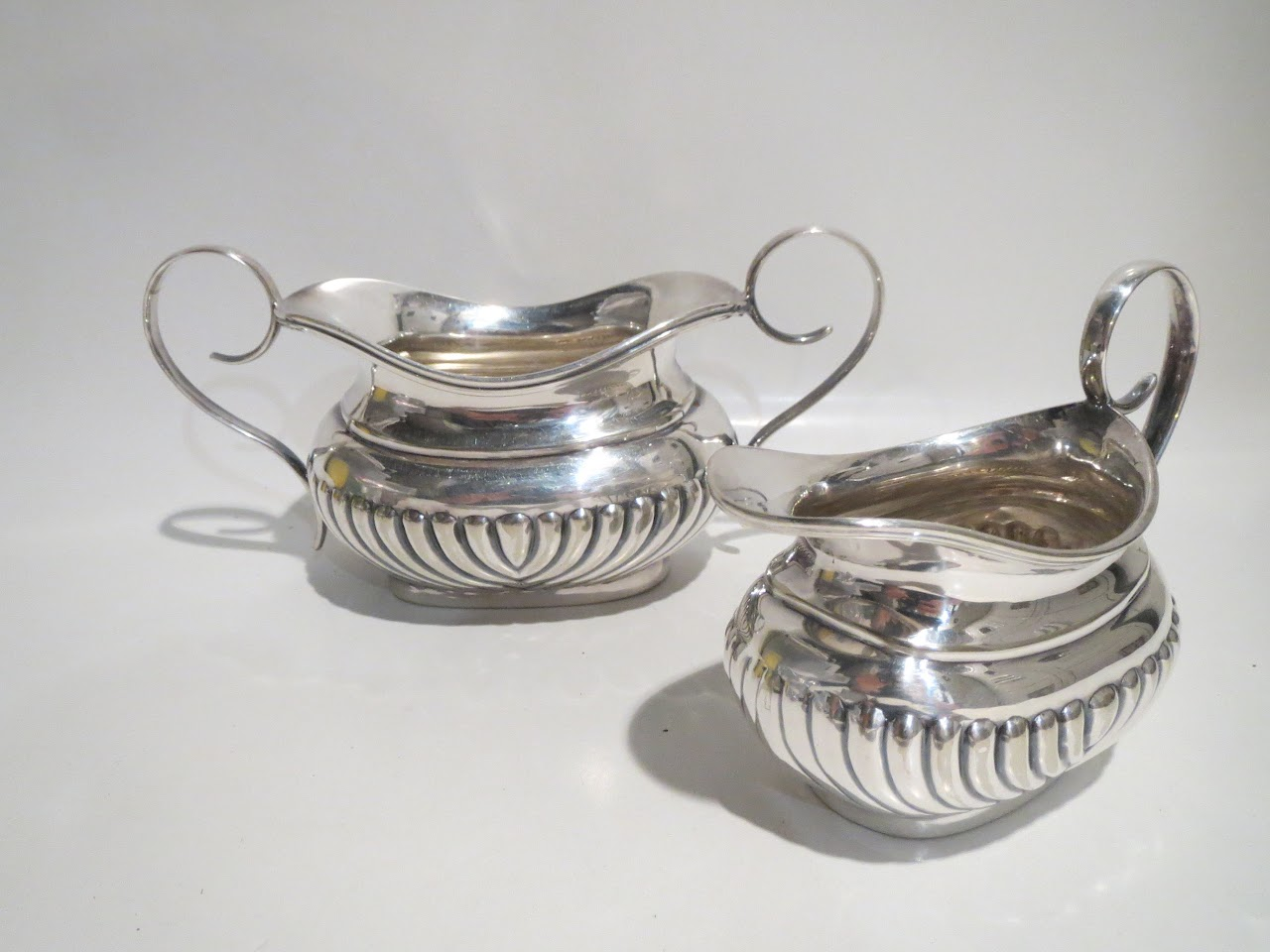 Sterling Silver Milk and Sugar Dishes
