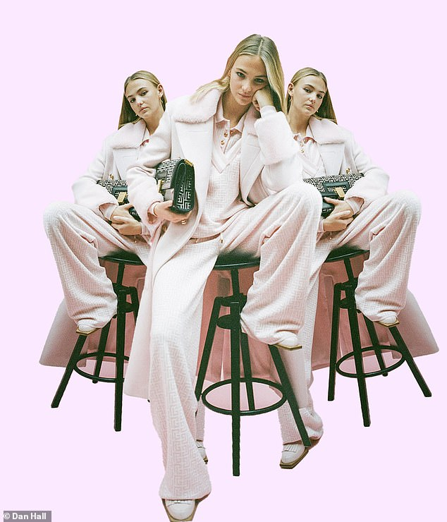 Pastel hues The model gives the new Balmain Pre Fall 2021 collection a Gen-z makeover