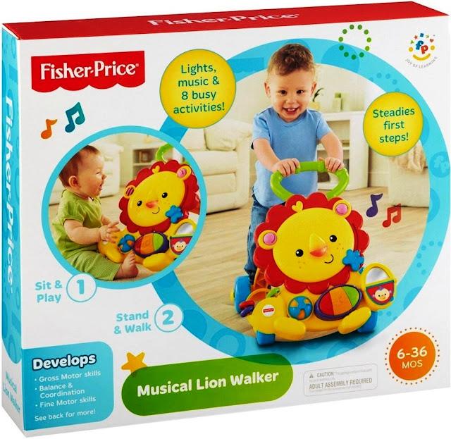 Sản phẩm Xe tập đi Sư tử Fisher Price Musical Lion Walker Y9854