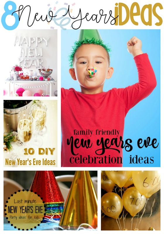 8 New Years Ideas at GingerSnapCrafts.com #newyears #party #partyideas #newyears