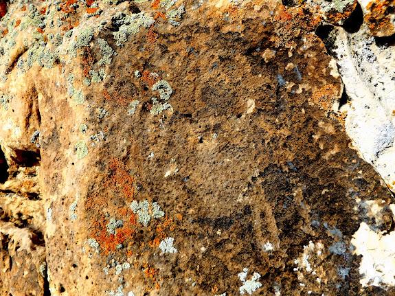 Faint bighorn petroglyph