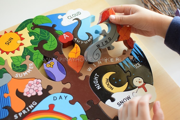 Alphabet Jigsaw Wooden Seasons Puzzle