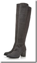 Dune Grey Suede Over the Knee Boot