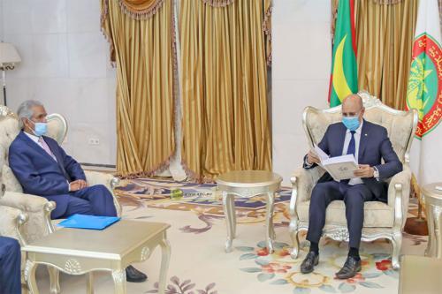 ⭕ URGENTE | El presidente de Mauritania recibe a una importante delegación saharaui.