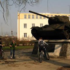 Pierwsza atrakcja. Radziecki czołg :D (Skierniewice)