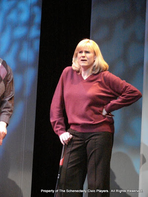 """Cristine M. Loffredo in """"Foreplay: or the Art of the Fugue"""" as part of THE IVES HAVE IT - January/February 2012.  Property of The Schenectady Civic Players Theater Archive."""