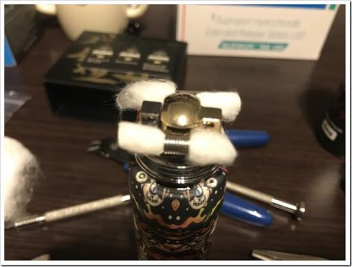 IMG 4258 thumb - 【OH!SAMURAI!】「Dovpo Bushido2 RDA」(ドヴポ・プシドーツーRDA)レビュー!フレーバー重視と言いつつ巨大なボトムエアフローで爆煙重視のRDA!レジンかストーンのドリップチップもカッコイイ!