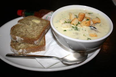 Seafood chowder at Mourne Oyster Bar in Belfast in Northern Ireland