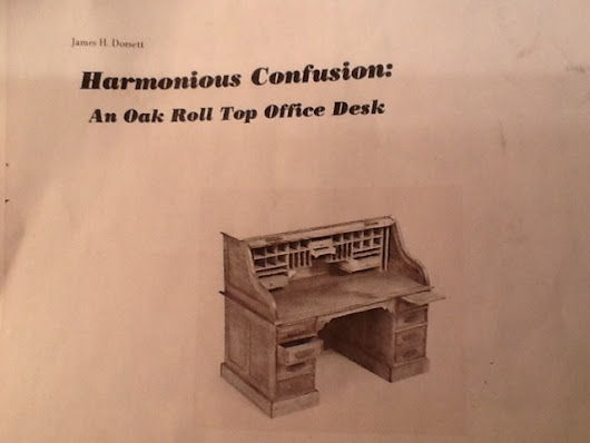 Harmonious Confusion 1/12 Scale Roll Top Desk - Jim Dorsett plans