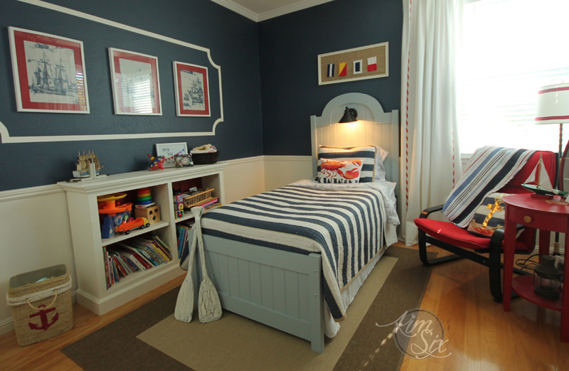 Little boys nautical bedroom DIY ideas