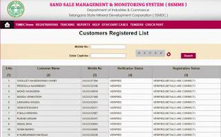 SSMMS-Status Of Customer Registration At SSMMS