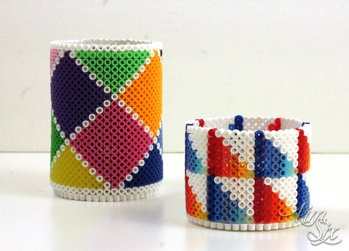 Three dimensional pearler bead pencil storage