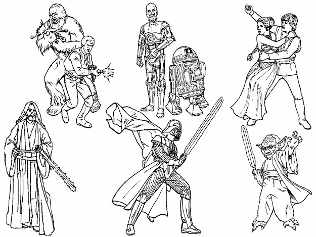 Star Wars Coloring Characters Kids Pages