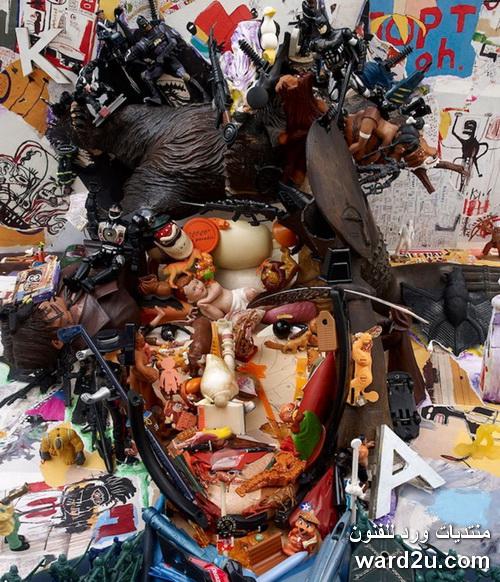 بورتريهات ولوحات عالمية تشكيل فنى خامات متنوعة