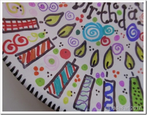 Sharpie Pen Birthday Plate 7