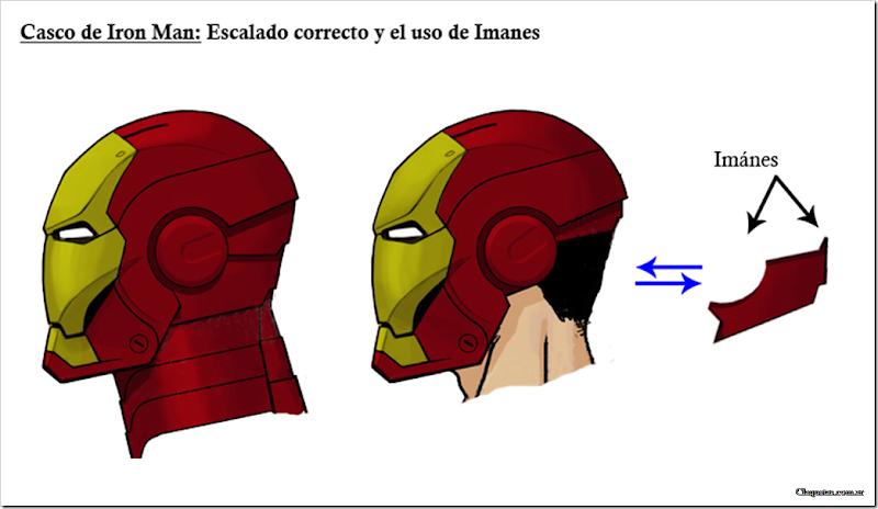 Casco de Iron Man- Correcto Escalado y uso de Imanes