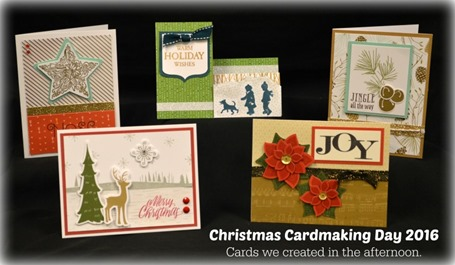 2016-9-24 Christmas Cardmaking Day - cards in afternoon  DSC_2922