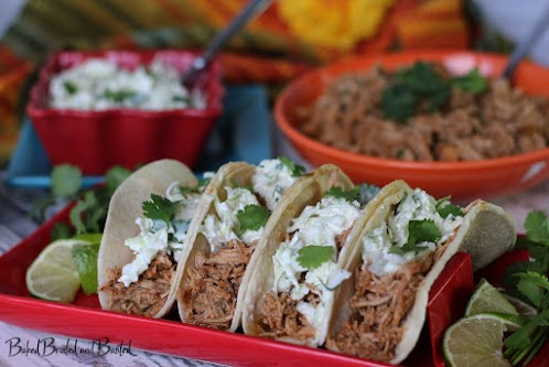 Cilantro Lime Pulled Pork Tacos