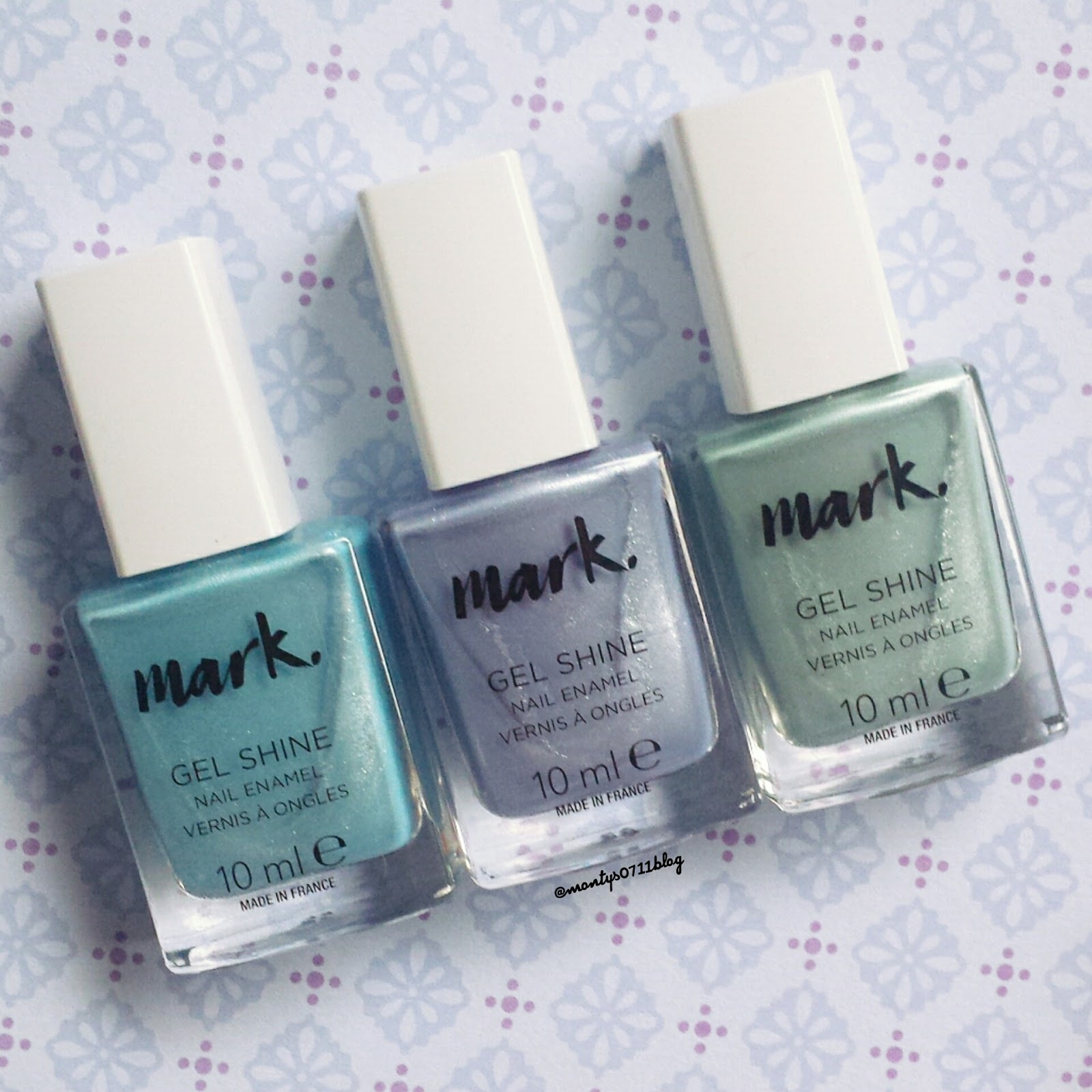 montys0711blog: Avon Gel Shine Nagellack Pastell Swatches
