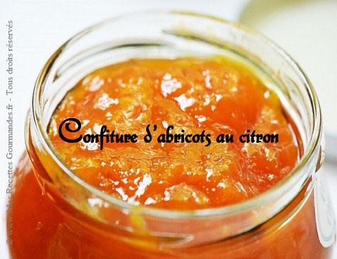 recette de la confiture d abricot au citron