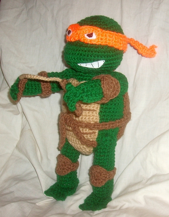 Crocheting With Mikey : WolfDreamer: TMNT Michaelangelo