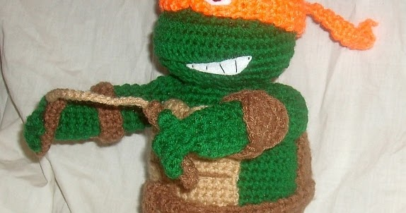Teenage Mutant Ninja Turtle - Free amigurumi pattern | 302x574