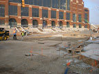 Lucas Oil Stadium - City Wide Paving Measures out Excavated Area