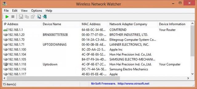 برنامج لكشف من معك على الشبكة Wireless Network Watcher 1.99