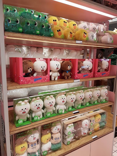 Plush toys at Line Friends Store in Taipei