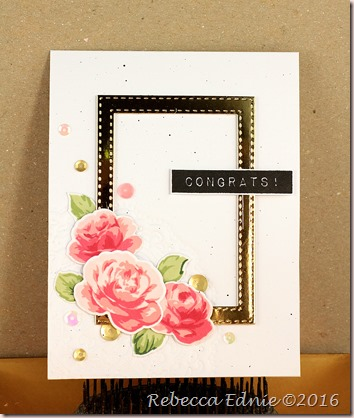 rose frame congrats