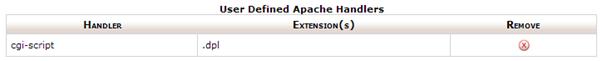 User defined apache handlers