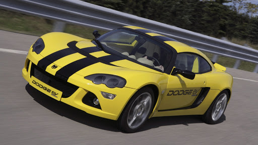 Yellow Dodge EV Car