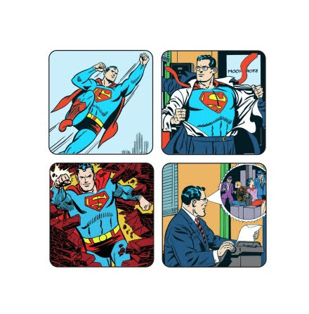 Superman - Coasters set of 4