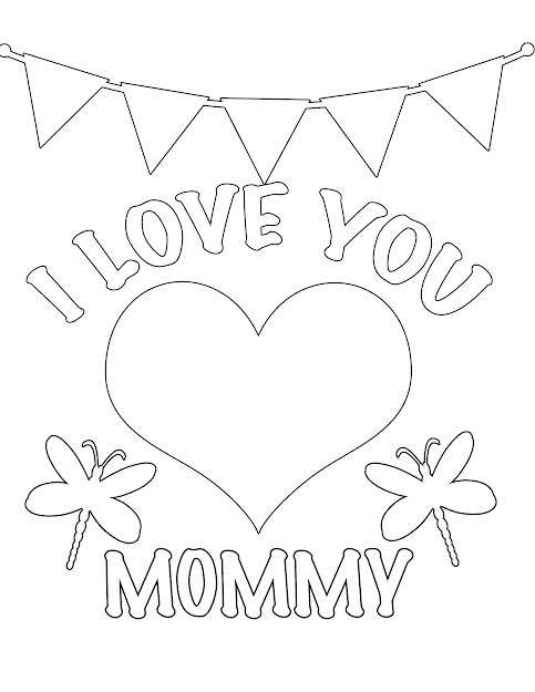 Valentines Day Printable Coloring Page Is Free For You To Use For  Love  You Mom Coloring Pages