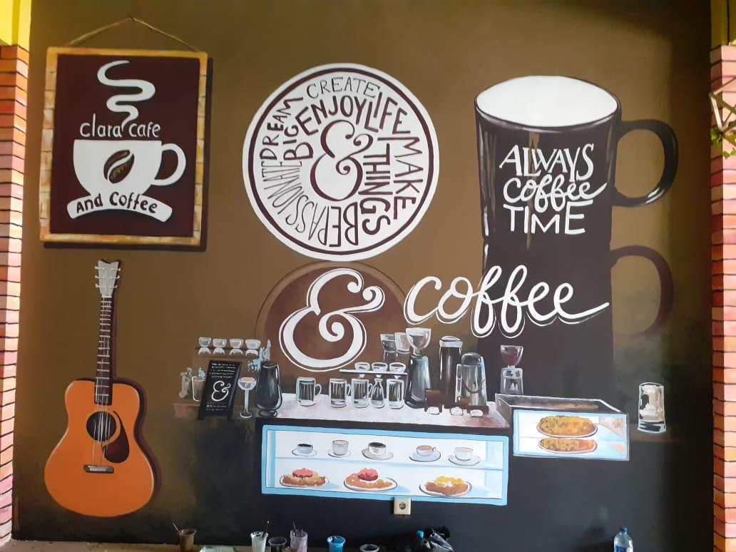 Gambar2 Lukisan Mural Cafe Terkeren