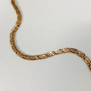 14K Rose Gold Spiral Link Chain Necklace