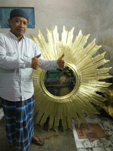 Frame cermin tembaga kuningan