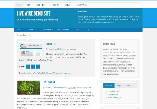Blue Blogging Wordpress Magazine Theme