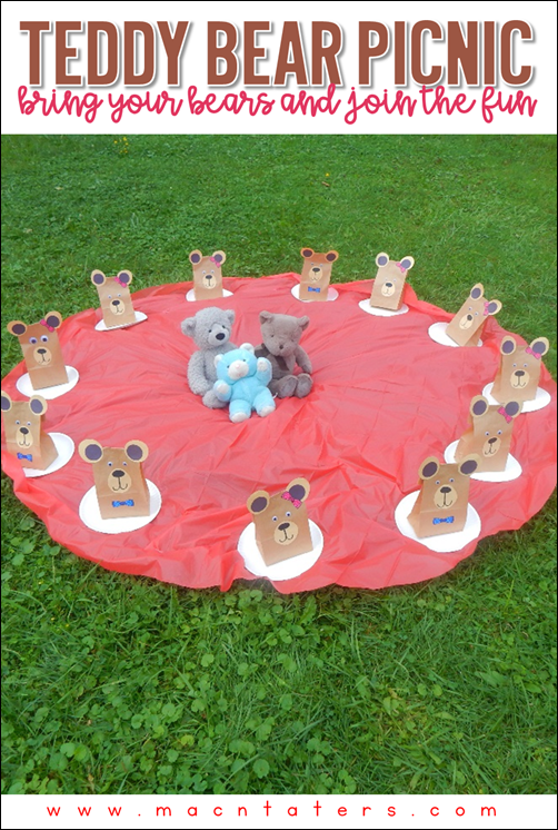 Teddy Bear Picnic  Great for a book club, National Teddy Bear Day and National Teddy Bear Picnic Day