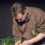 Tot i tractar-se d'un treball que requeria molt temps i dedicació, Didier Gilles va voler fer una proposta de ram de núvia. Sobre una base de filferro i va punxar detalls en groc amb flors de ranúncul i craspèdia.