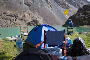Camping at the bank of Sosat-sar, Sosat, Ghizer
