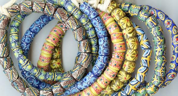 Hand-painted Glass Krobo Beads from Soul of Somanya